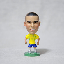 "Soccer Player Star 9# RONALDO (BRA-2002) 2.5"" Toy Doll Figure(China)"