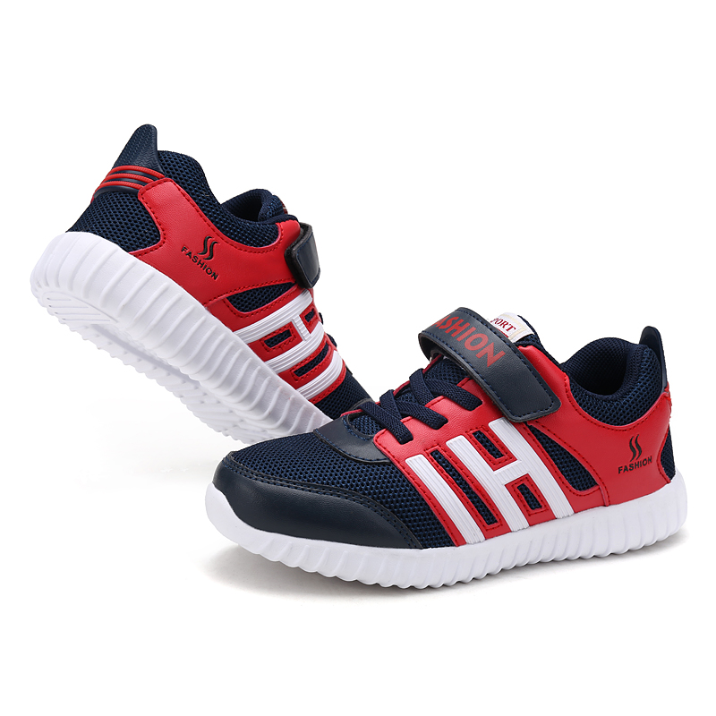 Hot Korean children new dual mesh breathable lightweight sports shoes children shoes comfortable shoes boys girls runing shoes<br>
