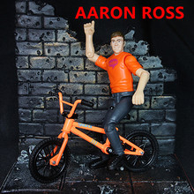 Mini BMX finger bike toys with a small doll model flick trix AARON BOSS biycle(China)