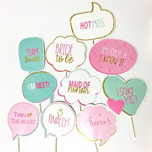 10pcs Bride to Be Photo Booth Props DIY Wedding gift supplies Photography Birthday Decor Party Fun Favor Photocall just married