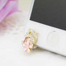 Front Anti Dust Plug Rhinestone Dustproof Plug For For iPhone 4,4S,5,5C,5S,6,6S Mobile Phone Accessories