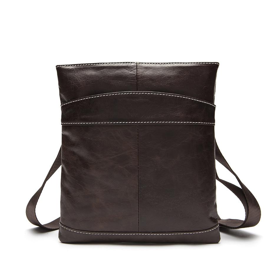 100% Guarantee Genuine Leather men messenger bags Relax Ultra light REAL Cow Leather shoulder crossbody bag Vintage men bag<br>