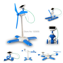 new 6 in 1 DIY solar toy kit robot windmill plane car educational solar power Kits Novelty solar robots For Child boy gril Gift