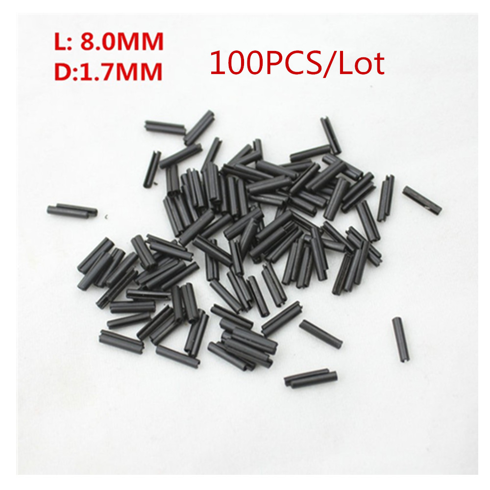 HKOBDII 100pcs/Lot Remote Control Key Blank Pin Fixed 1.7mm 1.7 PINS Fixed for Flip Folding Remote Key Blade l: 8mm(China)
