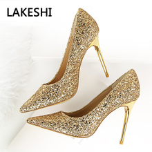 2017 Women Pumps Summer Fashion Women Shoes Valentine High Heels Sexy Thin Heels High Wedding Shoes White(China)