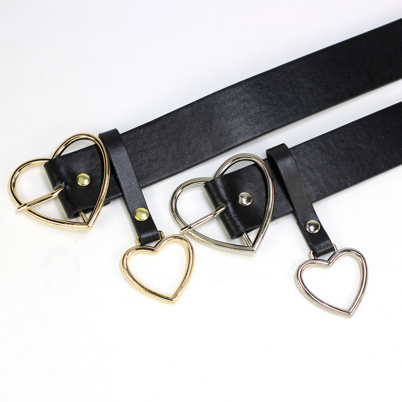 Fashion PU Leather Belt Women Metal Heart Buckle Corset Belt Wedding Party Dress Decor Waistband Ladies Belts Streetwear 105cm 6