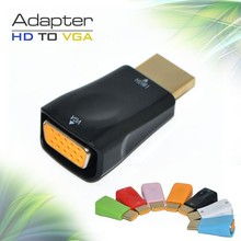 New Design HDMI to VGA With Audio Adapter Male Digital to Female Analog Converter adaptador For HDTV PC Computer