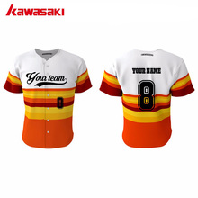 Kawasaki Custom Fans Practice Baseball Jerseys Top 100% Polyester Breathable High Quality Training Softball Shirts Jersey