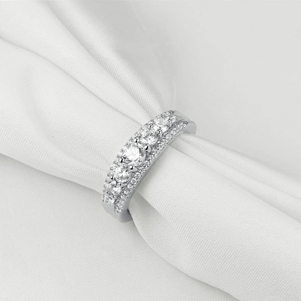 1.2Ct Round White AAA CZ & Solid 925 Sterling Silver Classic Engagement Ring