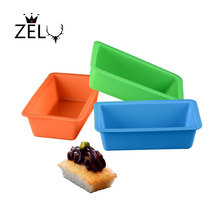 ZELU Mini Small Rectangle Silica Fondant Mold DIY cake  Oven Tool Chocolate Mousse Baking Not Sticky bottom toast bread box