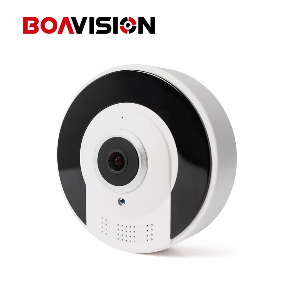 BOAVISION HD 960P 3D VR Camera Wireless WIFI 360 Degrees Panoramic Monitor Fisheye IR Infrared IP Camera VR Camera Two Way Audio<br>