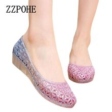ZZPOHE 2017 summer new women casual fashion crystal sandals Woman Plus Size sandals Non-slip Comfortable breathable Female shoes