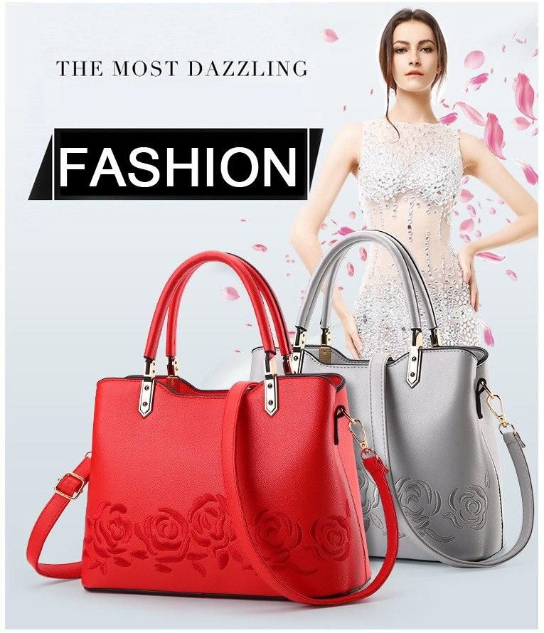 c14f28b9007a ZMQN Fashion Luxury Bags For Women Designer Handbag High Quality PU Leather  Crossbody Bag Women 2018 Hard Embroidery Flower B919
