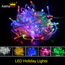 10M Waterproof Holiday String 220V 100LED/10M kerstverlichting Xmas Fairy RGB Light Christmas Fixtures Curtain Floor Lighting