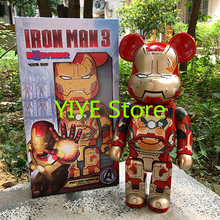 400% Marvel Movie Iron Man Bearbrick Medicom Toy Be@rbrick Fashion Toy With Retail Box 28cm AG62(China)