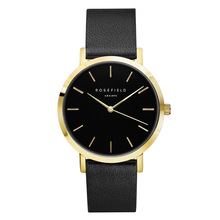 ROSEFIELD Brand Simple Men Watches Exquisite Leather Strap Charm Boy Quartz Analog Wristwatch Classic Clock Relojes
