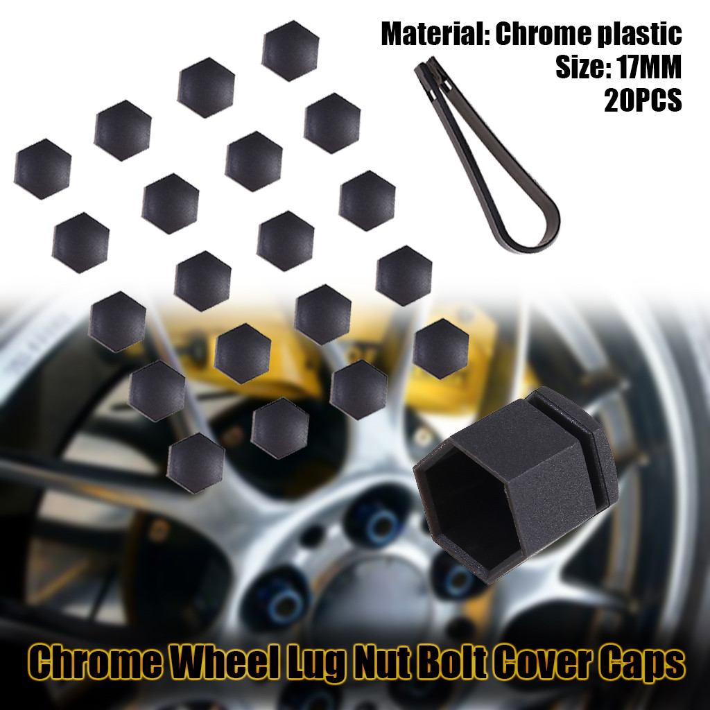20 Car Bolts Alloy Wheel Nuts Covers 17mm Chrome For  Ford Fiesta MK7