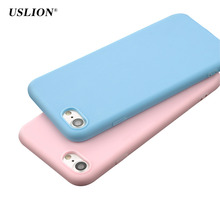 Buy USLION Phone Cases iPhone 7 6 6s Plus 5 5s SE Fashion Simple Solid Color Case Back Cover Soft TPU Silicon Capa Coque for $1.09 in AliExpress store