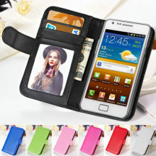 Luxury Book Style PU Leather Case For Samsung Galaxy S2 SII i9100 Stand Phone Bag Cover Coque For Galaxy S2 With Photo Frame