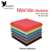 EVAAN Wall Stickers 19.7*19.7*1.97inch Flat Bevel Soundproof foam panels Acoustic Foam Panels Sound Insulation Studio Home Decor