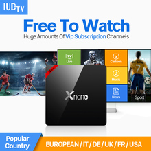 Quad Core S905X Android TV Box 1G 8G IPTV Set Top & HD Subscription 1 Year IUDTV Code Account Arabic Europe - ETech IPTV&Satellite Shop store