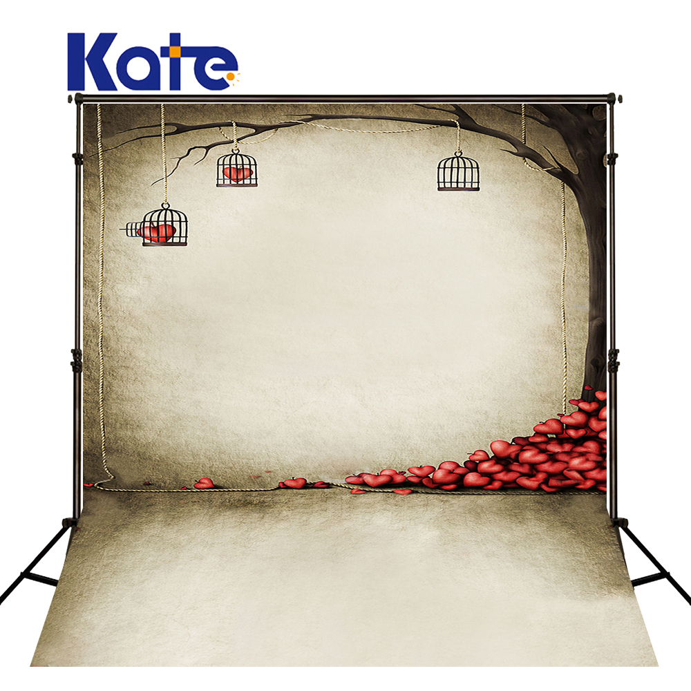 New Arrival Background Fundo Under Cage Hanging Hearts 300Cm*200Cm(About 10Ft*6.5Ft) Width Backgrounds Lk 2238 ValentineS Day<br>