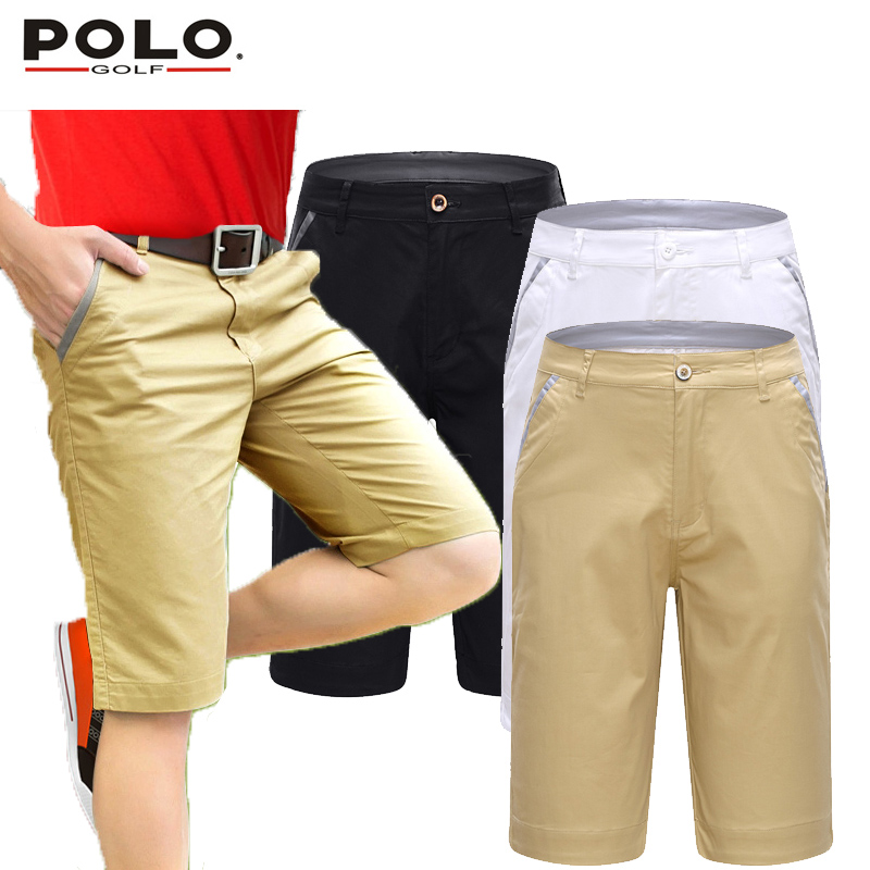 Brand POLO Men Golf Shorts Cottton Pearly Gates Golf Trousers Pantalon Homme Clothing White Black Khaki Custom Logo Clothes 2017<br>
