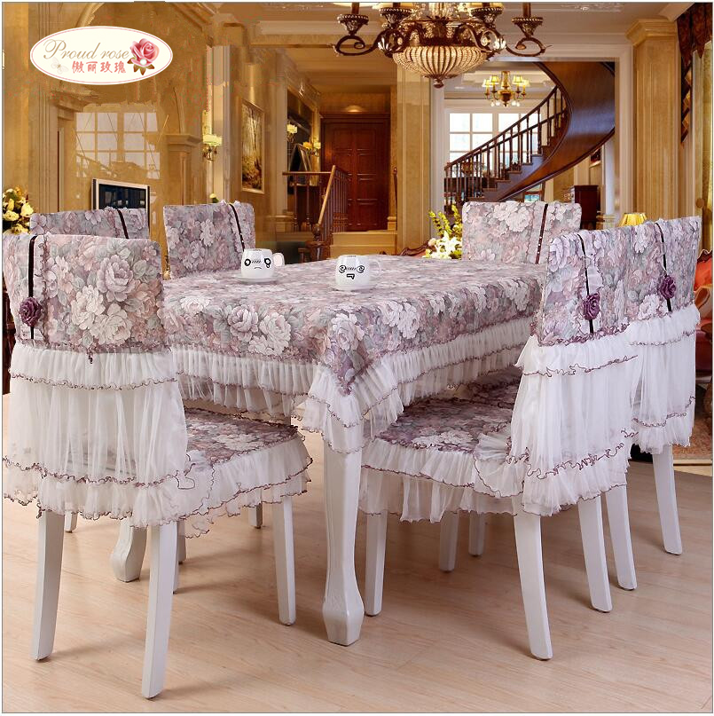 1 Piece Pastoral Lace Table Cloth Chair Cover European Tablecloth With Rose Pattern Tea Free Shipping