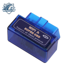 Buy Hot Selling Mini ELM327 WiFi ELM 327 OBDII Car Diagnostic Tool OBD2 Code Reader Scanner IOS Android ELM WiFi 327 blue for $8.49 in AliExpress store