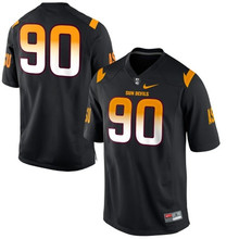 Nike Arizona State Sun Devis (ASU) Will Sutton 90 College Football Jerseys - Black Size M,L,XL,2XL,3XL(China)