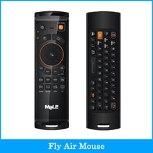 Mele F10 Deluxe 2.4GHz Fly Air Mouse Wireless QWERTY Keyboard Remote Control with IR Learning Function for Android TV Box