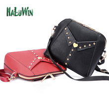 HALUWIN fashion women lady bag top hanle bags party style hot sale quality puleather shoulder solid bags crossbody unique design