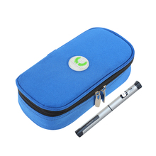 Meetcare Portable Insulin Glaciated Cold Storage Bag Refrigerated Box Drug Freezer package Diabetes People Diabetic Products(China)