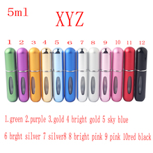 1pcs 5ml Hot Air Pump Perfume Bottle Mini Refill Portable Empty Perfume Atomizer Bottle Travel Perfume Pump Spray Box