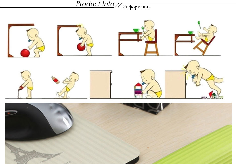 baby safety table desk corner pad protection strip children's child safety protection strips gift double-sided adhesive