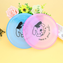 FameBeaut 1pcs Plastic Pet Dog Cat Puppy Toy Play Treat Training Funny Flying Saucer Frisbee Discs Outdoor Large Dog Toys