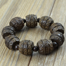 Vietnam sandalwood peace beads bracelets new arrival authentic Vietnamese rosewood bracelet men jewelry birthday gifts 2017 0555