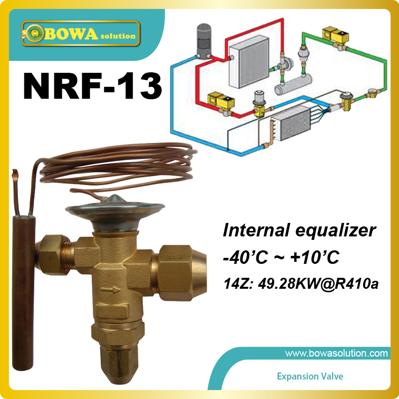 NRF-13 thermostatic expansion valve(meter device) is located indoor (air handler) units with the evaporator coils<br>
