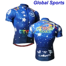 2017 mens Blue totem pattern short Sleeve Cycling Jersey quick dry Biking Clothing anti-sweat Rider Shirt Wear blue