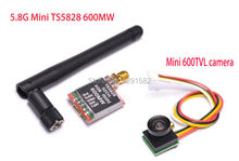Mini TS5828 5.8Ghz 48Ch 600mW FPV AV Wireless Transmitter + 600TVL 1.8mm Wide view 170 degree for Mini Multicopter