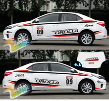 Imported Material Race Style Whole Body Words Sticker For Toyota Corolla 2014-2017 Z2CA580(China)