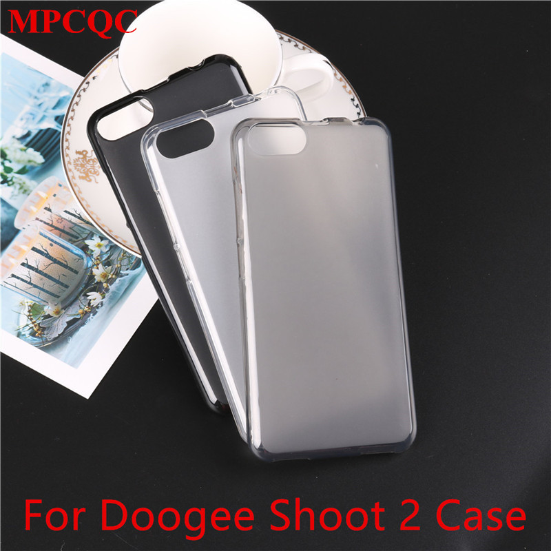 MPCQC Doogee Shoot 2 Case Silicone Cover Soft TPU Matte Pudding Cover Funda Protective Mobile Phone Cases Doogee Shoot 1