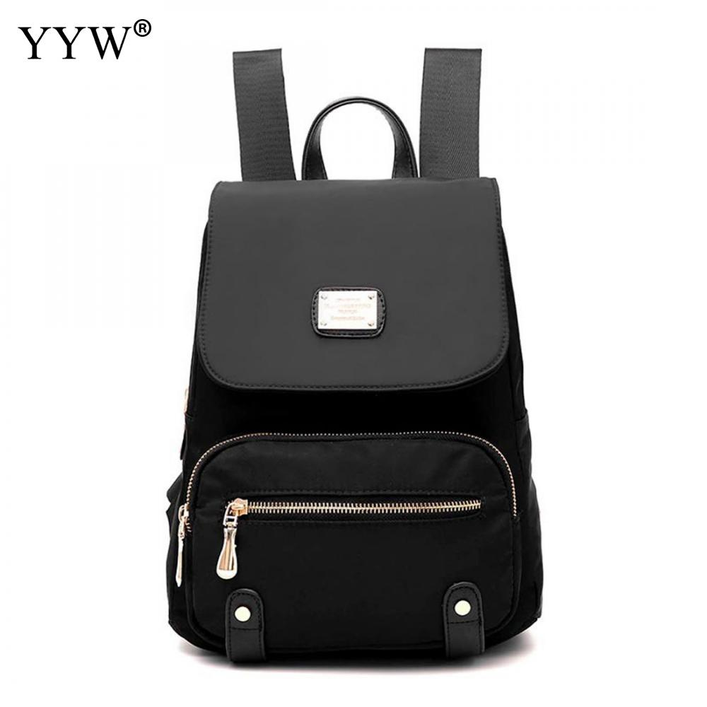 Solid Color Oxford Backpack Female Black Anti Theft Backpacks for Women and Adolescent Girls 2018 New Mini Travel School Bag<br>