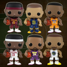 6 style FUNKO POP Basketball NBA Star KOBE BRYANT/STEPHEN CURRY/LEBRON JAMES PVC Action Figure Model Collection Toy Doll
