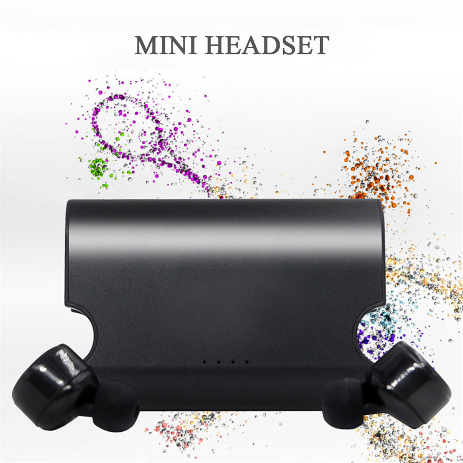 Si TAI&amp;SH Portable True Wireless Earbuds TWS X2T Mini Headphone Bluetooth 4.2 Earphone Charger Box For Iphone And Andriods<br>