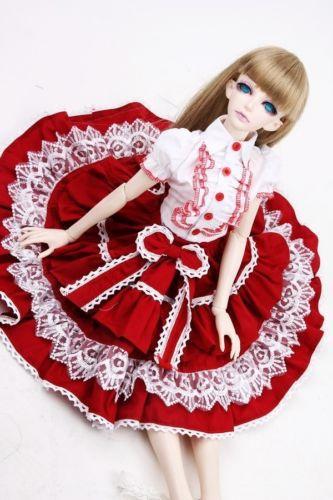 [wamami] 299# Red Dress/Clothes/Suit 1/3 SD DZ BJD Dollfie<br>