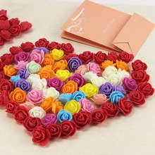 30pcs Mini PE Foam Artificial Rose Flowers For Wedding Car Decoration DIY Wreath Decorative Valentine Day Fake Flowers(China)