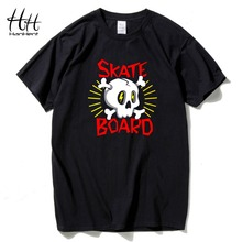 HanHent Skateboard Logo Cotton Skull T Shirts O Neck Tops Tees Shirt-known Brand New T-shirt 3D Tshirt Japan Tee shirt Boys