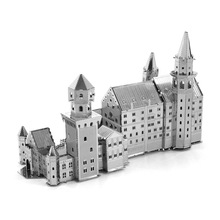 New Swan Lake Fort Model Building Kits Toy DIY Assembled 3D Puzzle Metal Landmark Famous Constructions Model Jigsaws