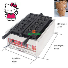 Commercial Non-stick 110V 220V Electric Hello Kitty Waffle Maker Iron Baker Machine